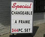 Sidewalk Sign with Changeable Lettering